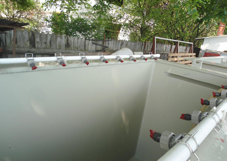 PVDF bath with heat exchange